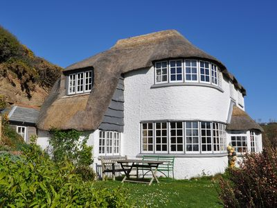 Photo for Thatchways Seaside Holiday House, On The Hillside Overlooking Crackington Haven