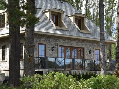 Photo for Charming All Stone French Country Lakefront Cottage - Shawnigan Lake