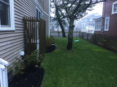 Side yard- Note trees have been removed.