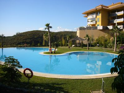 Photo for Ground floor  apartment in Reserva del Higueron with beach access