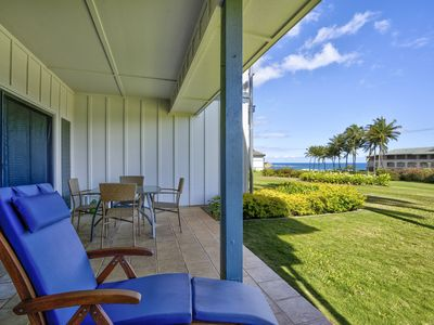 Photo for Ground floor with ocean views 1bed/1.5bath @ Poipu Sands 312