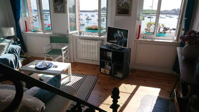 Photo for Charming duplex apartment on the port of Barfleur