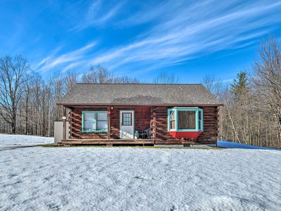 Photo for NEW! High Peak Heaven: Cozy Log Cabin on 1 Acre!