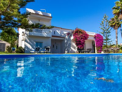 Photo for Stunning 8 bed Villa. Set in own grounds, very secluded with Pool & Private Bar