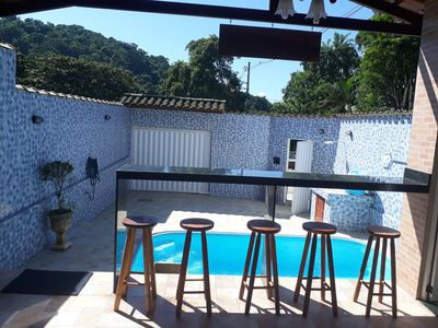 Photo for TROPICAL HOUSE WITH SWIMMING POOL AR COND. BBQ AREA, WIFI SHOWER RELEASED