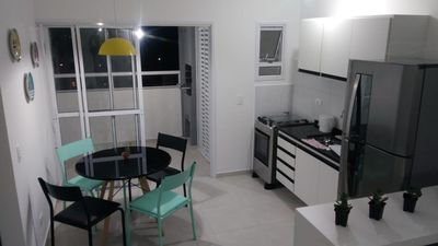 Photo for BEAUTIFUL NEW APARTMENT WITH VIEW TO SIERRA DO MAR 300MTS FROM THE BEACH!