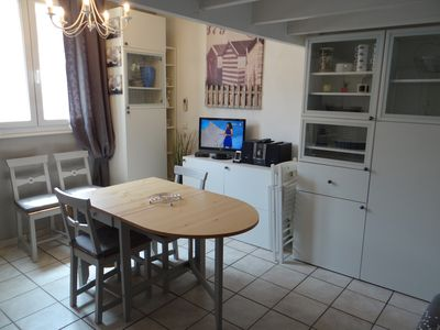 Photo for Apartment nice and friendly beach style T2 + mezzanine.