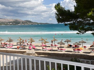 Photo for Luxury Apartment Sirra Luna overlooking the sea on the Playa de Alcudia. Suitable for 5 persons.