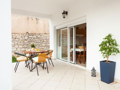 Photo for One bedroom apartment with terrace Vela Luka, Korčula (A-16770-b)