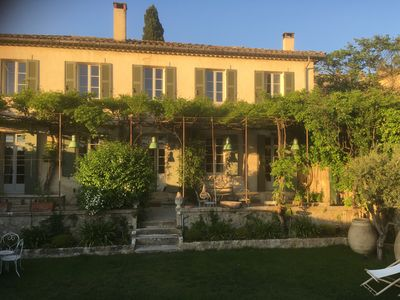 Photo for Lourmarin facing the castle, old bastide, garden and pool