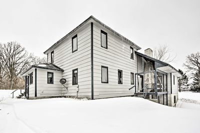 This home for 12 is located minutes from the Brainerd Lakes.