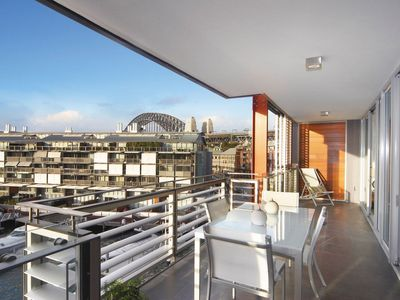 Photo for Luxury two bedrooms with water views in Barangaroo