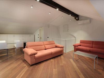 Photo for Moline apartment in Bologna with WiFi, integrated air conditioning, private roof terrace & lift.
