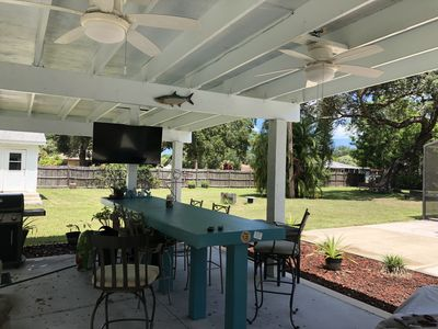 "Outdoor Grilling area w/  52"" Flat Screen"