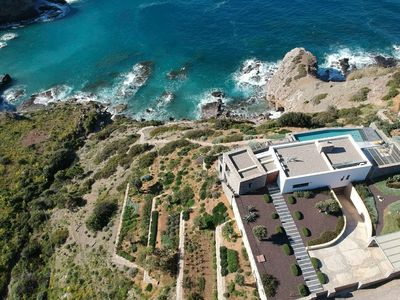 Photo for A pearl in South Crete! Brand new sea-front villa with views in the open sea!