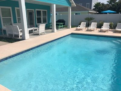 Photo for 4 Bedroom Home with private pool in quiet neighborhood close to the beach