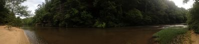 a panaramic view of Clear Creek from the Secret Beach!