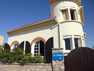 Photo for FACING THE SEA-DETACHED VILLA for 6 people with garage-to-p Portiragnes