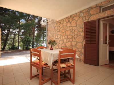 Photo for One bedroom apartment with terrace Sveta Nedilja (Hvar)