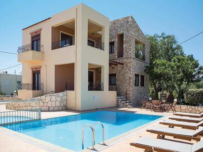 Photo for 3 bedroom Villa, sleeps 6 in Stalos with Pool, Air Con and WiFi