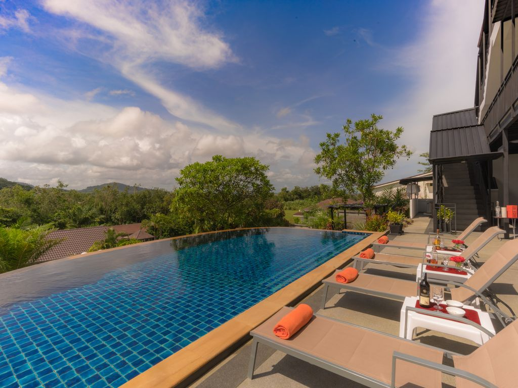 Private Modern Pool Villa with Mountain Views Tropical Living.