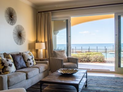 Photo for Gulf Front Luxury Condo! Ground Level - Quick access to the beach and pools!