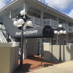 The Tarrymore entrance with Condo #212 on second floor