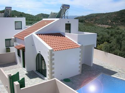 Photo for ★ Villa Balos, totally private pool, free WiFi, A/C, parking sleeps 4