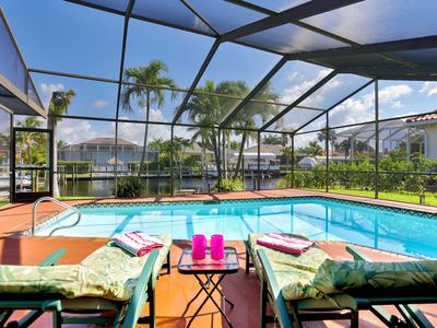 Photo for ❤️ Luxury Villa - Salt Water Heated Pool on Canal