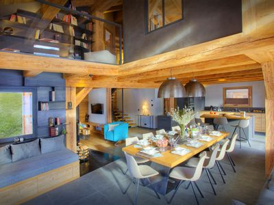 Photo for Luxury 5* La Clusaz chalet for 12 - sauna, gym and hot tub - OVO Network