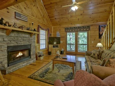 Photo for THE GETAWAY, your mountain experience with this luxurious cabin in the woods.