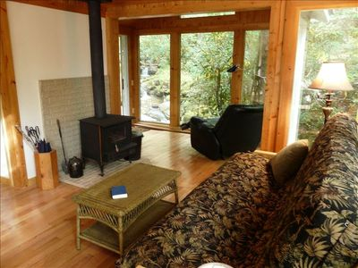 Photo for Rushing Stream Wraps Around Modern Cabin on 5 Acres
