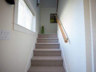 Fully Carpeted Stairs And Second Level