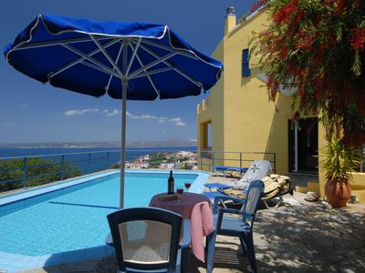 Photo for Fantastic 3 bedroom villa for 6, close to sea, village centre and tavernas etc.