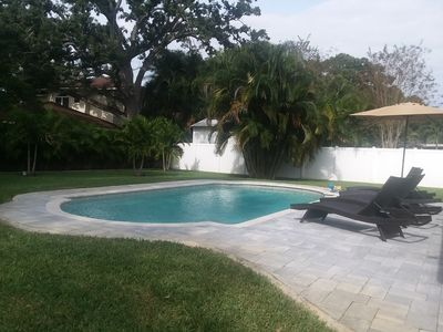 Photo for CLEARWATER PRIVATE RETREAT FOR YOUR FAMILY...NEW IN GROUND SALT WATER POOL.