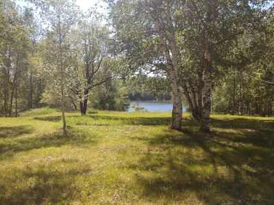 Photo for Waterfront Home Wooded Privacy Campground setting