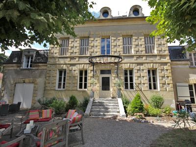 Photo for Stunning 7 bedroom Manoir in the heart of a beautiful bastide Dordogne village