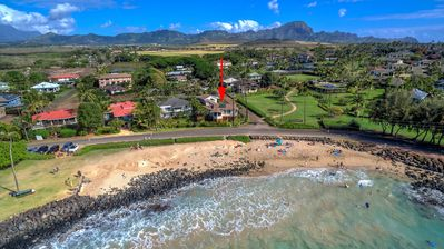 Photo for Hale Halia - Steps away from world famous Poipu Beach with private Pool & AC!