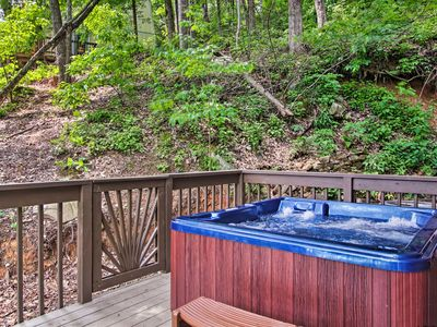 Photo for Gatlinburg Cabin w/Hot Tub & Deck - 5Mins to Town!