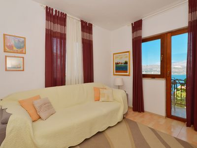 Photo for Sunny apartment with sea view terrace