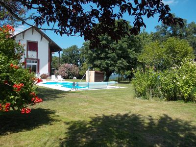 Photo for 4/5 bed house  in own grounds, with 8X4 pool & wonderful views of the Pyrenees