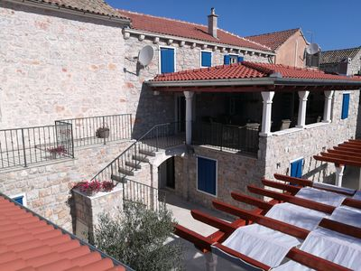 Photo for Villa Lantina Junior Suite for 2 + 2 persons in the old stone house in Betina, Murter