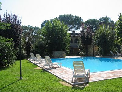 Photo for Villa Saveria C: A graceful two-story apartment in the characteristic style of the Tuscan countryside.