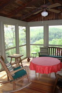 Enjoy a picnic on the lovely porch