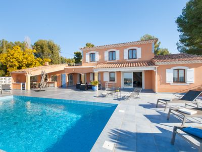 Photo for The Villa d'Azur, quiet, pool and panoramic views