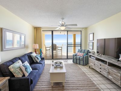 Photo for 3 BR Beachfront Condo! Beautiful Gulf Views & Great Amenities!