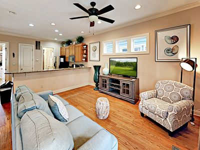 Photo for Spacious 4BR w/ Outdoor Living, On-site Pool—Short Walk to Beach & Dining