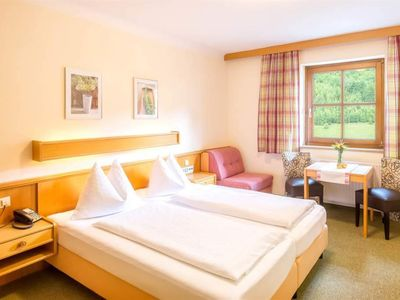 """Photo for Double room """"Enzian"""" with balcony in the Landhotel - Hotel Almrösl"""
