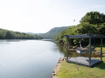 Photo for Riverfront home sitting in the heart of the Tennessee River Gorge 4 bdrm/4 bath