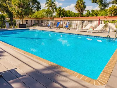 Photo for #1:  40' Salt Water Pool just 8 Minutes to Airport